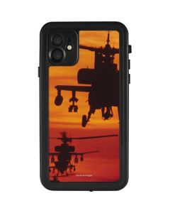 Four AH-64 Apache Helicopters iPhone 11 Waterproof Case