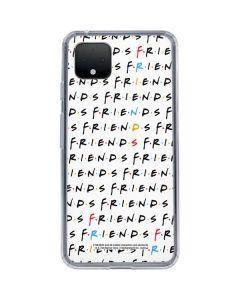 FRIENDS Pattern Google Pixel 4 XL Clear Case