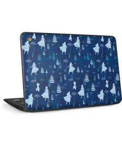 Frozen II Pattern HP Chromebook Skin