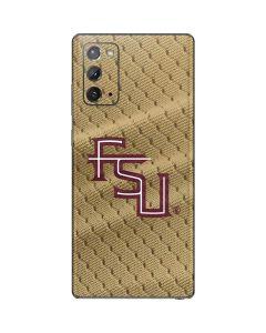 FSU Gold Print Galaxy Note20 5G Skin