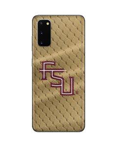 FSU Gold Print Galaxy S20 Skin