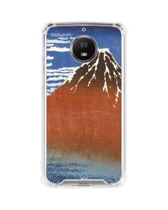 Fuji Mountains in clear Weather Moto G5S Plus Clear Case