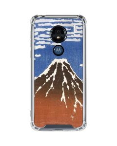 Fuji Mountains in clear Weather Moto G7 Power Clear Case