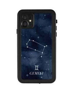 Gemini Constellation iPhone 11 Waterproof Case