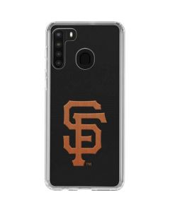 Giants Embroidery Galaxy A21 Clear Case