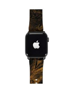 Gold and Black Marble Apple Watch Band 42-44mm