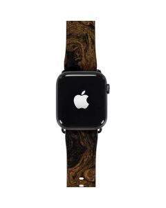 Gold and Black Marble Apple Watch Case