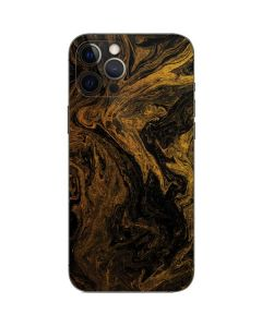 Gold and Black Marble iPhone 12 Pro Max Skin