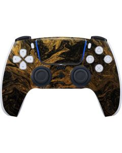 Gold and Black Marble PS5 Controller Skin