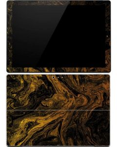 Gold and Black Marble Surface Pro (2017) Skin