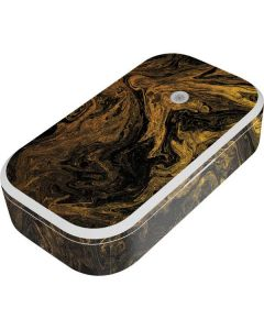 Gold and Black Marble UV Phone Sanitizer and Wireless Charger Skin