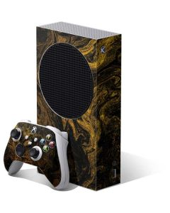 Gold and Black Marble Xbox Series S Bundle Skin
