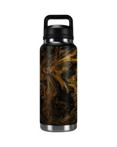 Gold and Black Marble YETI Rambler 36oz Bottle Skin