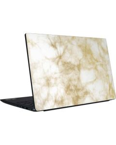 Gold and White Marble Dell Vostro Skin