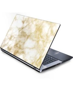 Gold and White Marble Generic Laptop Skin
