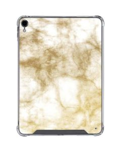 Gold and White Marble iPad Pro 11in (2018-19) Clear Case