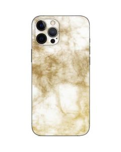 Gold and White Marble iPhone 12 Pro Max Skin