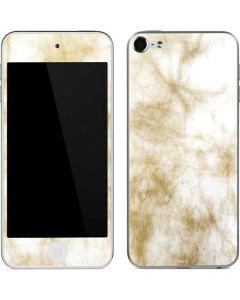Gold and White Marble Apple iPod Skin