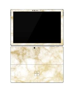 Gold and White Marble Surface Pro 7 Skin