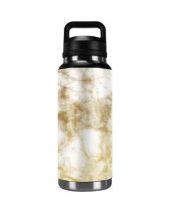 Gold and White Marble YETI Rambler 36oz Bottle Skin