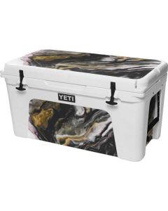 Gold Blush Marble Ink YETI Tundra 75 Hard Cooler Skin
