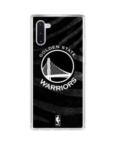 Golden State Warriors Black Animal Print Galaxy Note 10 Clear Case