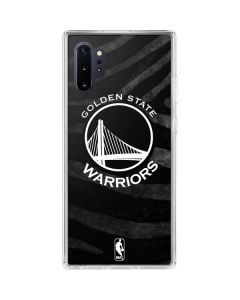 Golden State Warriors Black Animal Print Galaxy Note 10 Plus Clear Case