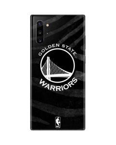 Golden State Warriors Black Animal Print Galaxy Note 10 Plus Skin