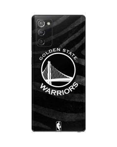 Golden State Warriors Black Animal Print Galaxy Note20 5G Skin