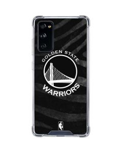 Golden State Warriors Black Animal Print Galaxy S20 FE Clear Case