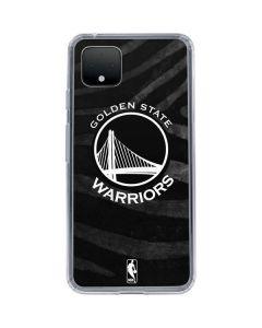 Golden State Warriors Black Animal Print Google Pixel 4 XL Clear Case