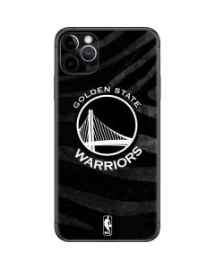 Golden State Warriors Black Animal Print iPhone 11 Pro Max Skin