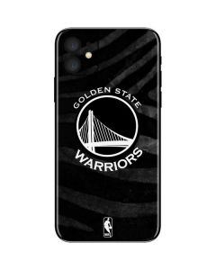 Golden State Warriors Black Animal Print iPhone 11 Skin