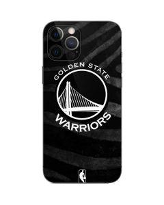 Golden State Warriors Black Animal Print iPhone 12 Pro Skin