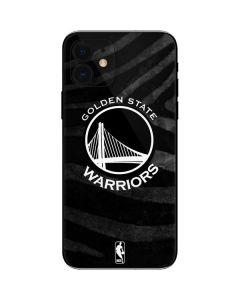 Golden State Warriors Black Animal Print iPhone 12 Skin