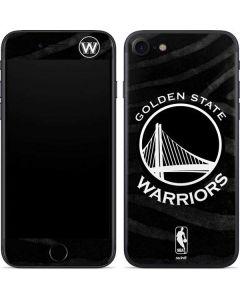 Golden State Warriors Black Animal Print iPhone SE Skin