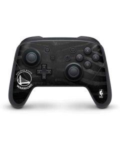 Golden State Warriors Black Animal Print Nintendo Switch Pro Controller Skin