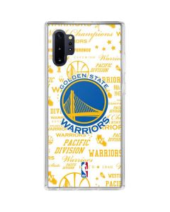 Golden State Warriors Historic Blast Galaxy Note 10 Plus Clear Case