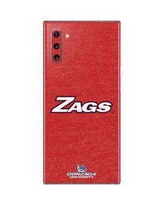 Gonzaga Zags Galaxy Note 10 Skin