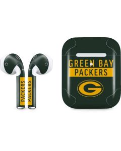 Green Bay Packers Green Performance Series Apple AirPods 2 Skin