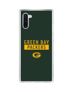 Green Bay Packers Green Performance Series Galaxy Note 10 Clear Case