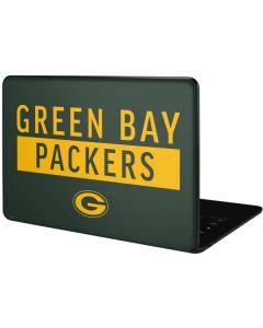 Green Bay Packers Green Performance Series Google Pixelbook Go Skin