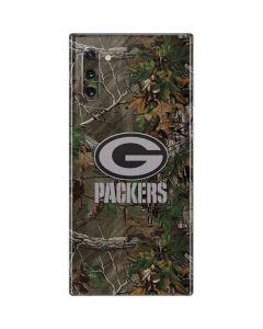 Green Bay Packers Realtree Xtra Green Camo Galaxy Note 10 Skin