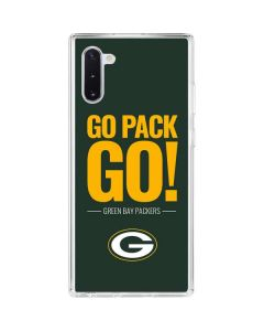 Green Bay Packers Team Motto Galaxy Note 10 Clear Case