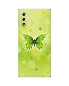Green Butterfly Galaxy Note 10 Skin