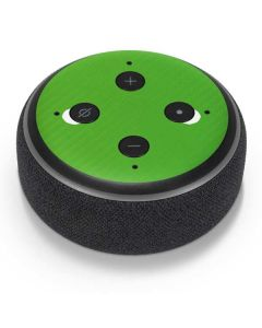 Green Carbon Fiber Amazon Echo Dot Skin