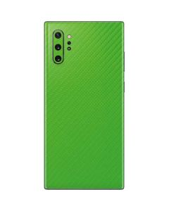 Green Carbon Fiber Galaxy Note 10 Plus Skin