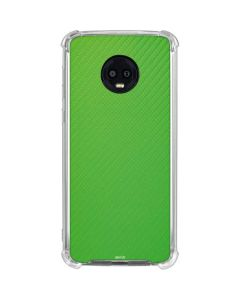 Green Carbon Fiber Moto G6 Clear Case