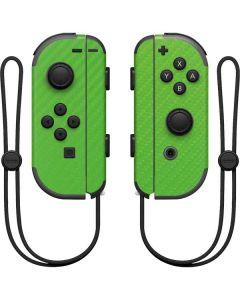 Green Carbon Fiber Nintendo Joy-Con (L/R) Controller Skin