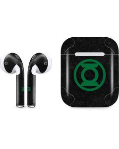 Green Lantern Logo Black Apple AirPods Skin